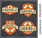 corn hole logos | Shutterstock .eps vector #256262449
