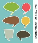 set of retro speech and thought ... | Shutterstock .eps vector #256267798
