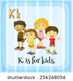 k is for kids | Shutterstock .eps vector #256268056