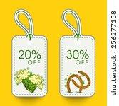elegant sale tags with beer mug ...   Shutterstock .eps vector #256277158