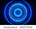 abstract  circle technology on... | Shutterstock .eps vector #256279243