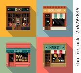 vector cool flat design square... | Shutterstock .eps vector #256297849