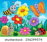 flower topic image 5   eps10... | Shutterstock .eps vector #256299574