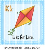 alphabet k is for kite | Shutterstock .eps vector #256310734