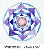 mandala hand painted pattern.... | Shutterstock . vector #256311700