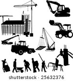 construction objects vector ... | Shutterstock .eps vector #25632376