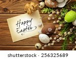 easter greeting card | Shutterstock . vector #256325689