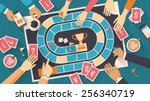 group of people playing... | Shutterstock .eps vector #256340719