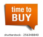 time to buy orange speech... | Shutterstock .eps vector #256348840