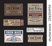 vintage labels denim typography ...   Shutterstock .eps vector #256354954