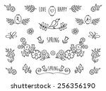 the set of hand drawn... | Shutterstock .eps vector #256356190