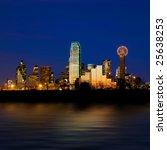 Dallas City Skyline At Night...