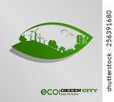 green city ecological concept   Shutterstock .eps vector #256391680