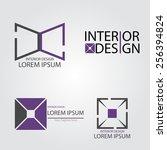 interior design   Shutterstock .eps vector #256394824