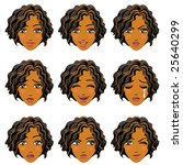facial expression of woman ... | Shutterstock .eps vector #25640299