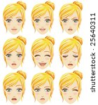 facial expression of woman ... | Shutterstock .eps vector #25640311