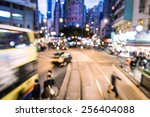 motion blurred and color tone... | Shutterstock . vector #256404088