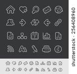 web icons    black line series  ... | Shutterstock .eps vector #256408960