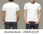 t shirt template | Shutterstock . vector #256412119