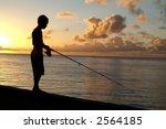 Boy Fishing Off Pier