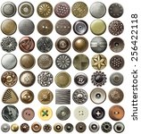 various sewing buttons and... | Shutterstock . vector #256422118