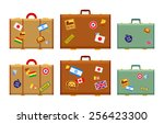Travelers Suitcases With The...