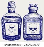 glass bottles of poison. doodle ...   Shutterstock .eps vector #256428079