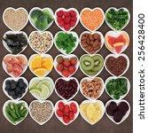 super food for beauty detox... | Shutterstock . vector #256428400