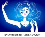 blue lady | Shutterstock .eps vector #256429204