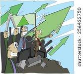 stock market going well | Shutterstock .eps vector #256432750
