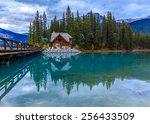 emerald lake in yoho national...   Shutterstock . vector #256433509