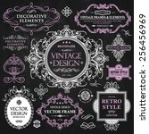 vector vintage collection ... | Shutterstock .eps vector #256456969