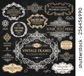 vector vintage collection ... | Shutterstock .eps vector #256456990