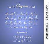 elegant handmade alphabet hand... | Shutterstock .eps vector #256464844