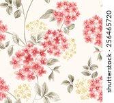fresh spring flowers seamless... | Shutterstock . vector #256465720