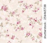 fresh spring flowers seamless... | Shutterstock . vector #256465738