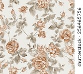 fresh spring flowers seamless... | Shutterstock . vector #256465756