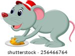 a mouse take cheese on a plate | Shutterstock . vector #256466764