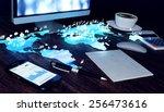 future office concept.... | Shutterstock . vector #256473616