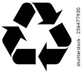 recycle. vector. | Shutterstock .eps vector #256477930