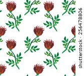 seamless watercolor pattern of... | Shutterstock .eps vector #256478806