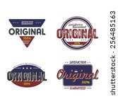 product quality badge theme... | Shutterstock .eps vector #256485163