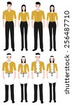 fashion uniform set. fashion... | Shutterstock .eps vector #256487710