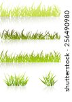 grass collection | Shutterstock .eps vector #256490980