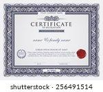 certificate template. | Shutterstock .eps vector #256491514