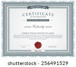 certificate template. | Shutterstock .eps vector #256491529