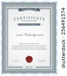 certificate template. | Shutterstock .eps vector #256491574