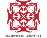 decorative wallpaper design in... | Shutterstock .eps vector #25649461