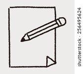 doodle document | Shutterstock .eps vector #256495624