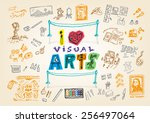 i love visual arts doodle...